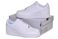 Nike Air Force 1 Mid '07 Low (all white) - (003)
