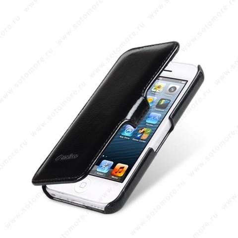 Чехол-книжка Melkco для iPhone SE/ 5s/ 5C/ 5 Leather Case Booka Type (Vintage Black)