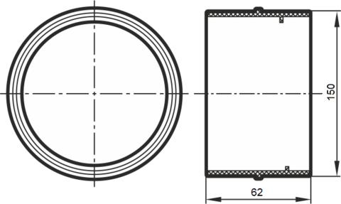 Соединитель- муфта 150 мм