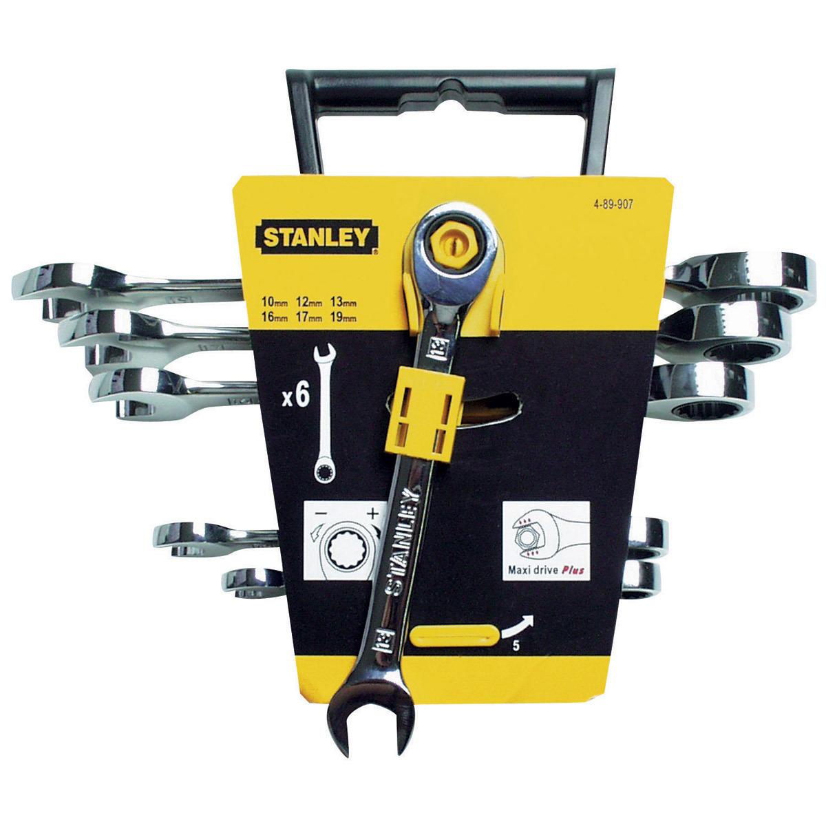 Набор ключей Maxi Drive с храповым механизмом 6шт Stanley 4-89-907
