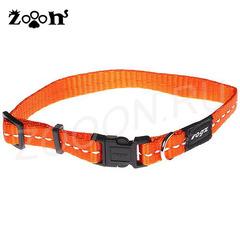 Rogz ошейник нейлон Small ширина 1,1 см обхват шеи 20-32 см, оранжевый