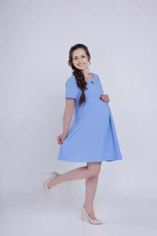 Платье 06149 светло-голубой