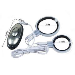 Электросекс члена (эрекционное кольцо + кольцо для мошонки)