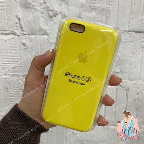 Чехол iPhone 6/6s Silicone Case /canary yellow/ канареечный 1:1
