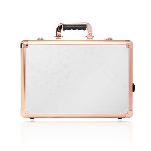 Бьюти кейс визажиста на колесиках (мобильная студия) LC7019 Gold&White