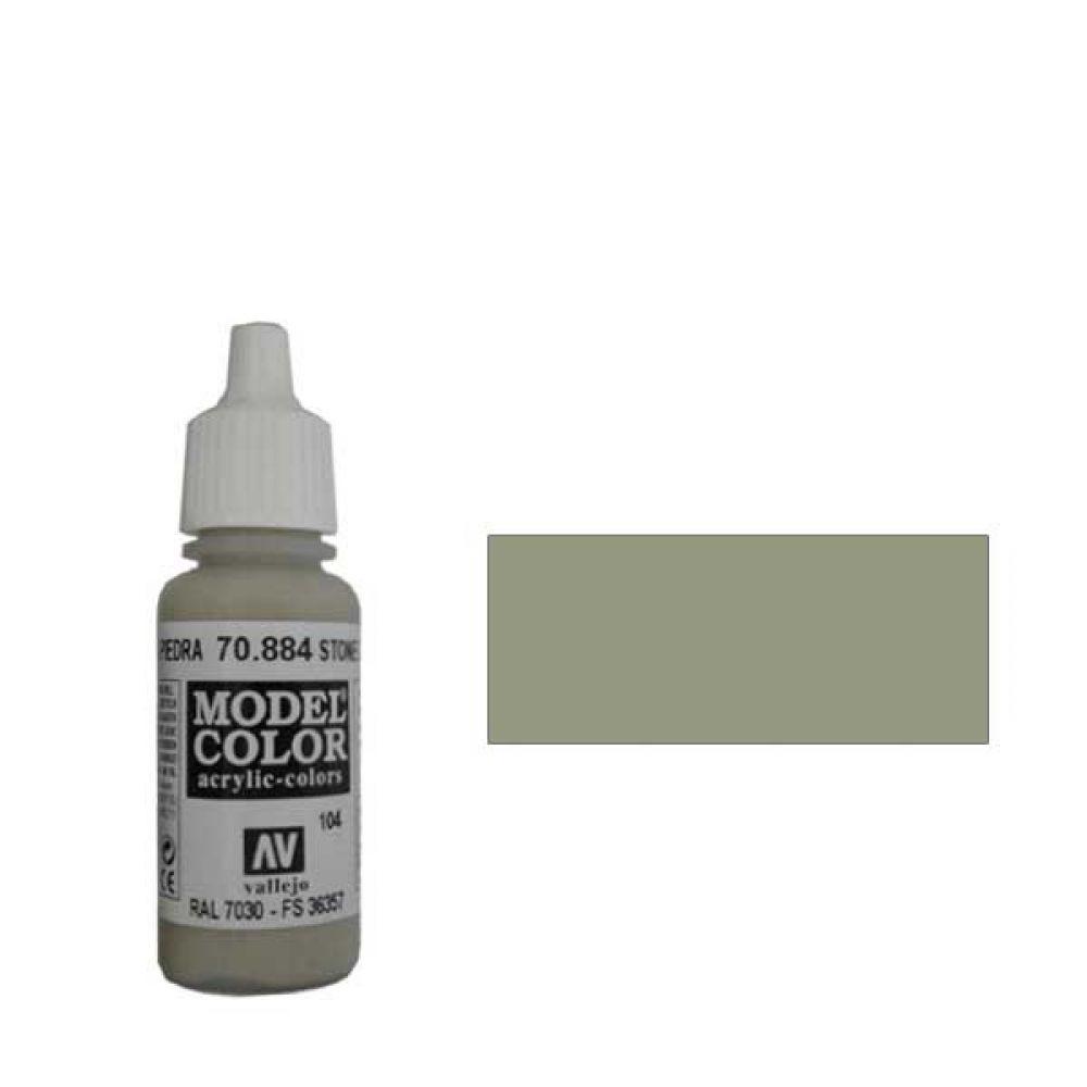 104. Краска Model Color Серый Камень 884 (Stone Grey) укрывистый, 17мл