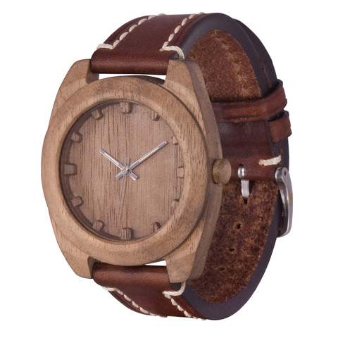 Часы из дерева AA Wooden Watches Вудкьюб Орех
