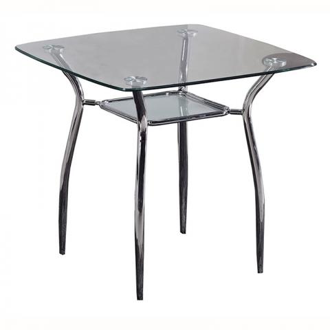 Стол обеденный W-03 квадратный стекло