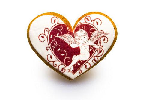Имбирный пряник сердце, 45г