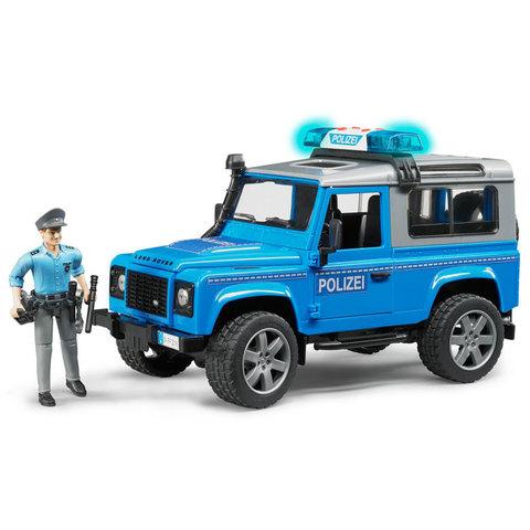 Bruder: Джип Land Rover Defender с фигуркой полицейского, 02-597 — Брудер