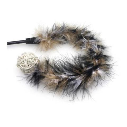 NEMS дразнилка  для кошки меховая с мячом и погремушкой