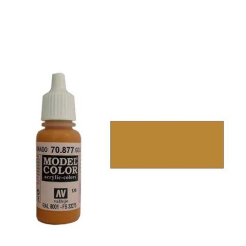 126. Краска Model Color Золотисто-Коричневый 877 (Goldbrown) укрывистый, 17мл