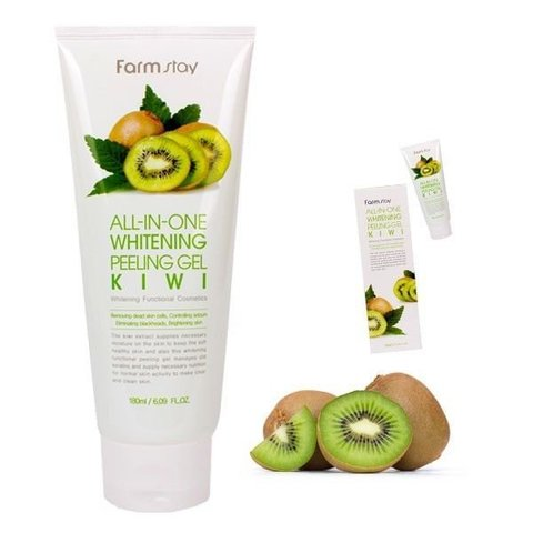 FarmStay all-in-one Whitening Peeling Gel Kiwi Пилинг гель с экстрактом киви, 180 мл, FarmStay