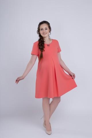 Платье для беременных 06149 коралл