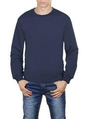 4054-8 футболка мужская дл. рукав, темно-синяя