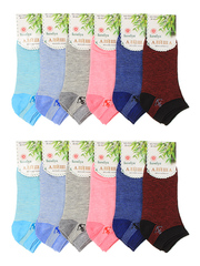 7051 носки женские 36-41 (12шт), цветные