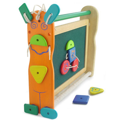 УЦЕНКА! I'm Toy Двусторонняя доска для рисования с набором фигурок на липучках (22014Uc)
