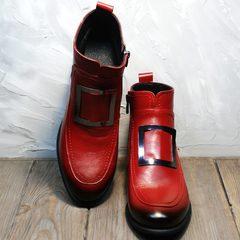 Ботинки на небольшом каблуке женские Evromoda 1481547 S.A.-Red