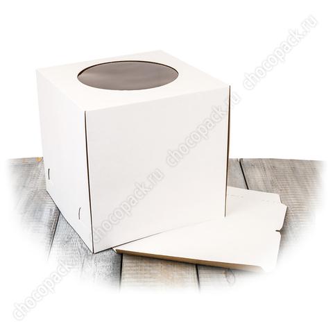 Короб с окном  30 х 30 х 30 см для тортов до 5 кг