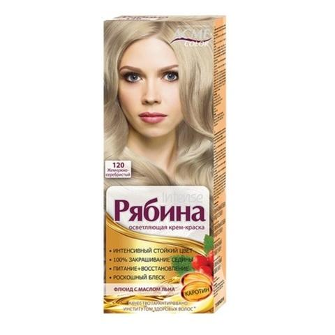 Рябина Intense Крем-краска для волос тон №120 жемчужно-серебристый
