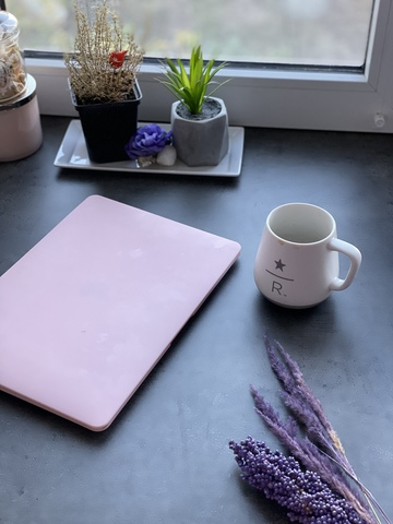 Накладка пластик MacBook Air 13.3 New /matte pink sand/