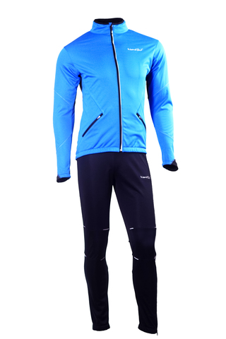 NORDSKI PREMIUM детский разминочный лыжный костюм синий