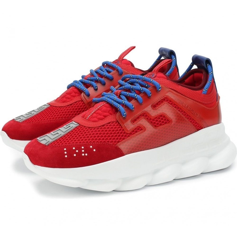 Versace Red Chain Reaction Trainers (002)