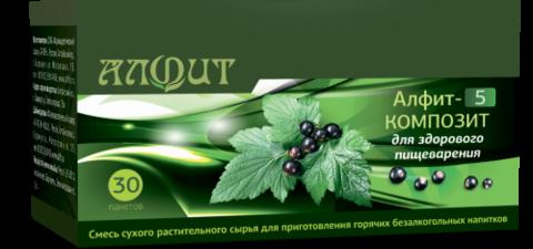 Фитосбор АЛФИТ-5 КОМПОЗИТ Для здорового пищеварения, 30ф/п*2г