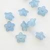 Бусина акриловая Цветочек серо-голубой 10х4 мм ,10 штук
