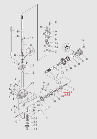 Стопорное кольцо для лодочного мотора T9.8 Sea-PRO (13-43)