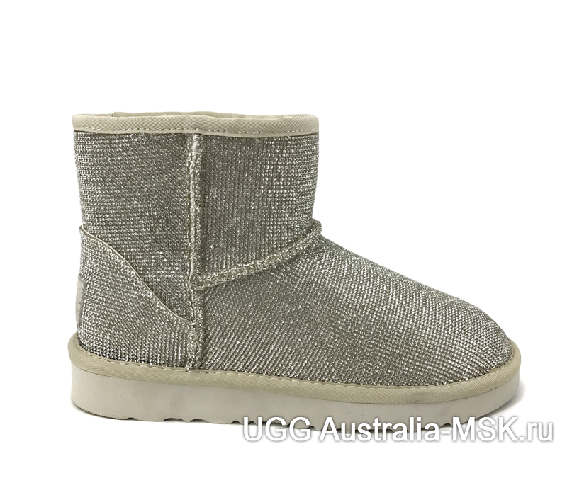 UGG & Jimmy Choo Short Serein II Mini Silver