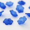 Бусина акриловая Цветочек темно-синий 12х4,5 мм ,10штук