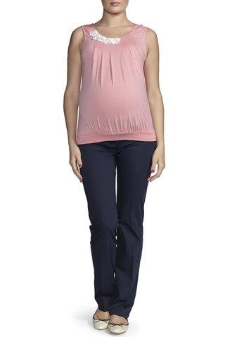 Блузка для беременных 01802 розовый-белый