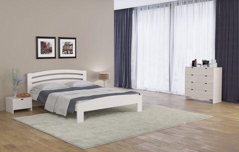 Кровать Веста 2 с основанием белая эмаль