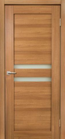 Дверь Дера Мастер 642, стекло белое, цвет карамель, остекленная