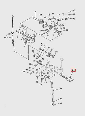 Вал переключения передач  для лодочного мотора T15, OTH 9,9 SEA-PRO (12-24)