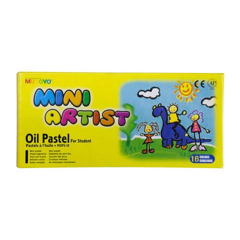 Набор масляной пастели Mungyo Mini 16 цв, в картонной коробке