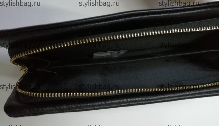 Черный кошелек на молнии JCCS js-3205black