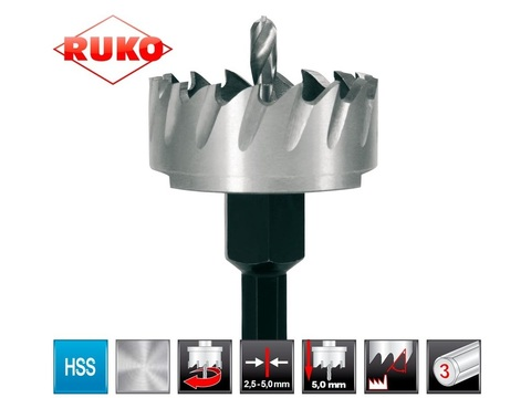 Коронка(сверло корончатое) по металлу Ruko HSS-G 25мм 128025