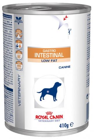 Gastro Intestinal Low Fat консервы для собак с ограниченным содержанием жиров при нарушениях пищеварения 410г.