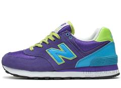 Кроссовки Женские New Balance 574 Lilac Blue Green