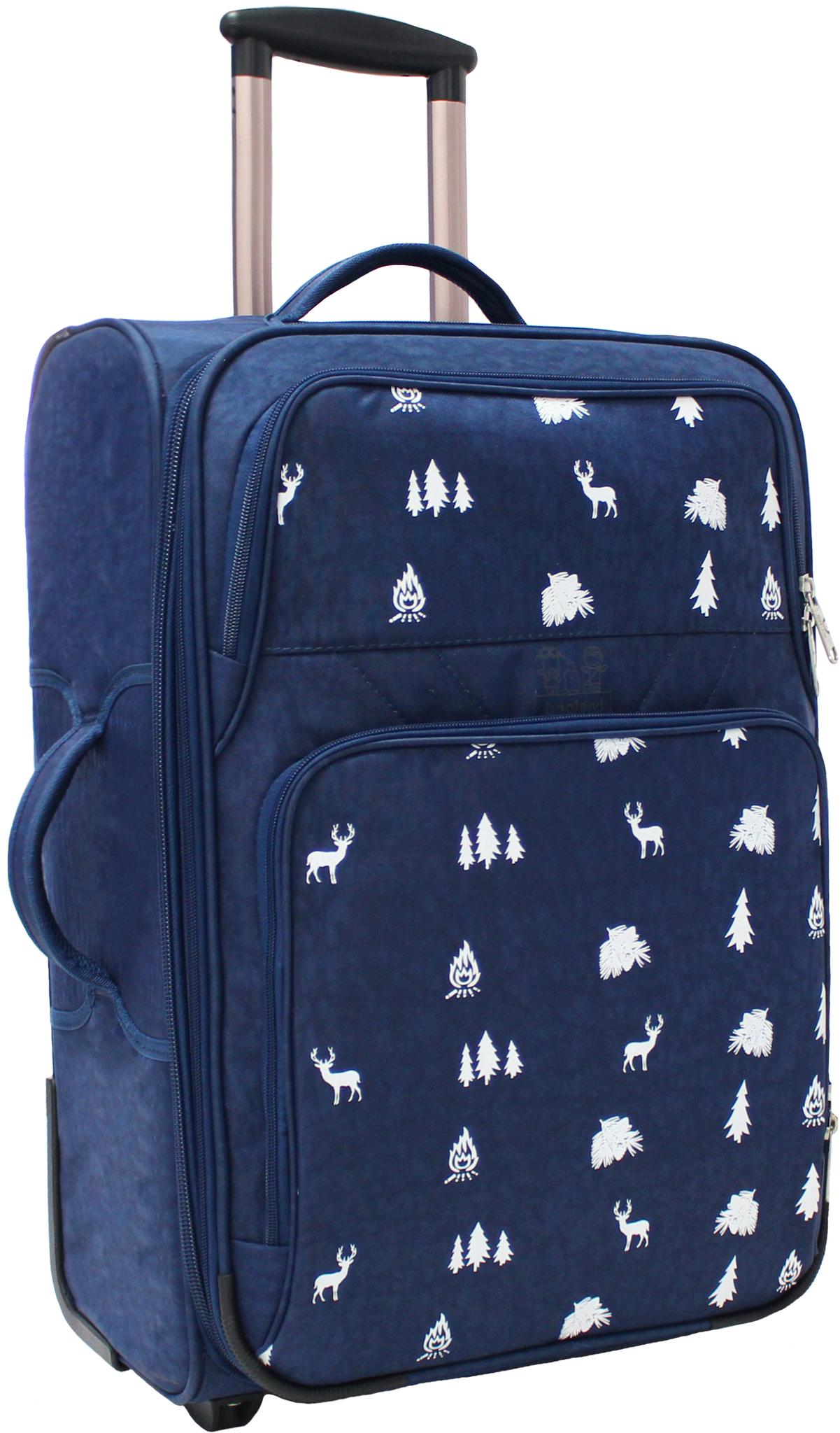 Дорожные чемоданы Чемодан Bagland Леон средний 51 л. 225 синій/олені (003767024) IMG_5344.JPG