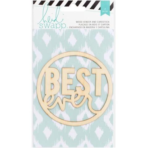 "Деревянный чипборд ""Best"" от Heidi Swapp"