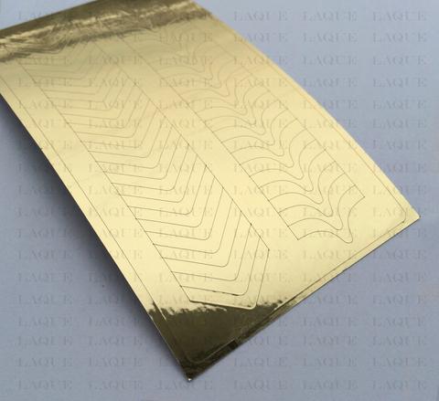 Металлизированные наклейки №131 Gold