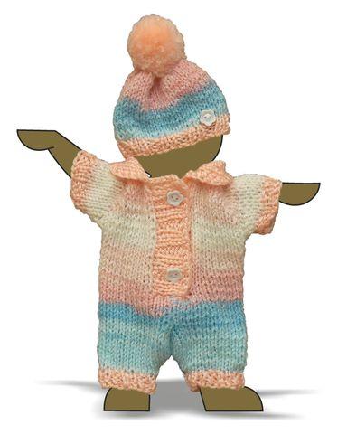 Вязаные ползунки - Демонстрационный образец. Одежда для кукол, пупсов и мягких игрушек.