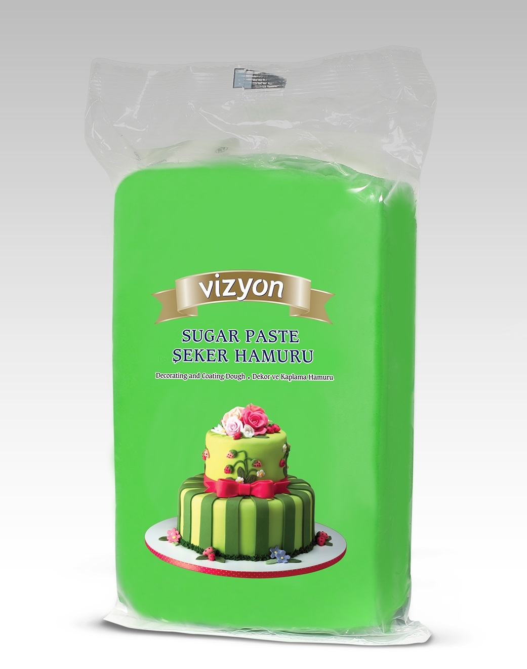 Мастика сахарная зеленая Vizyon, 0,5 кг