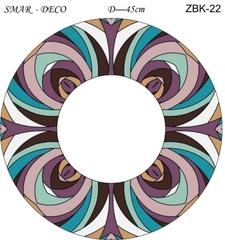 Эскиз для росписи, Зеркало диаметр-45см, SMAR-ZBK-22