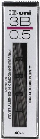 Грифели 0,5 мм Mitsubishi Hi-Uni 3B