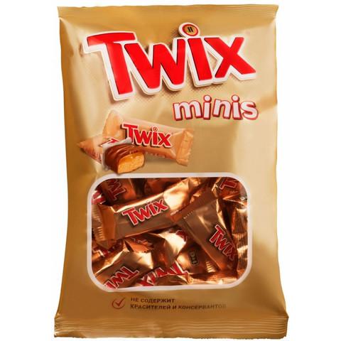 Шоколадный батончик Twix мини 184г