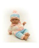 Вязаные ползунки - На кукле. Одежда для кукол, пупсов и мягких игрушек.